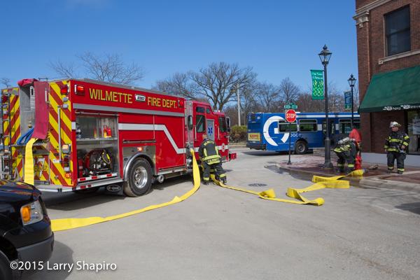 E-ONE e-MAX fire engine at fire scene
