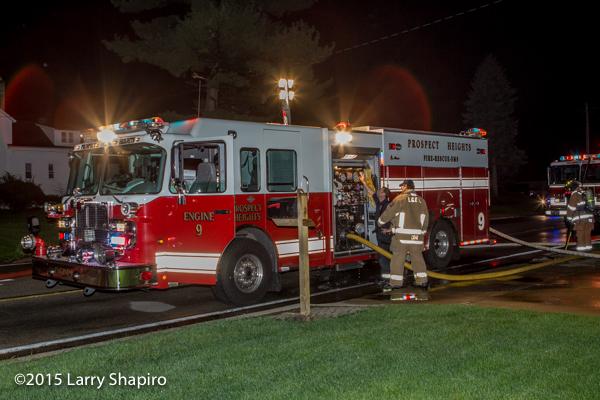 Spartan fire engine at night scene