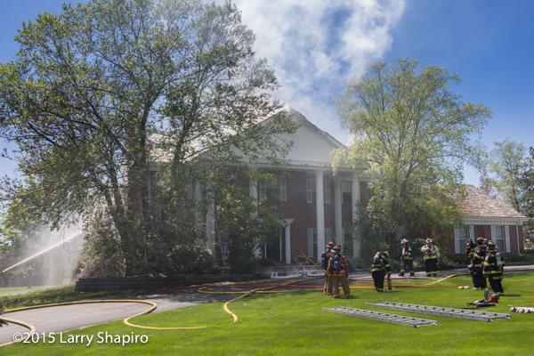 large hose on fire
