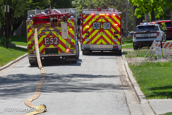 fire truck and ambulance with chevron striping