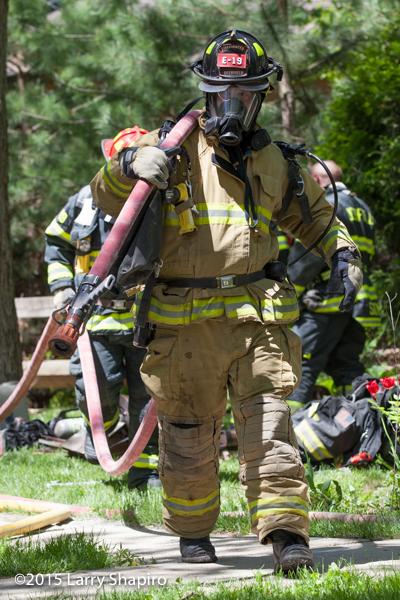 Deerfield firefighter at fire scene