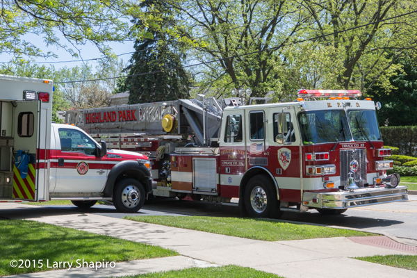Stuffed fire truck at fire scene
