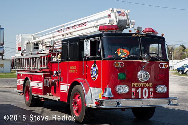 Snorkel fire truck