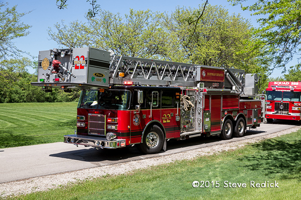 Hoffman Estates FD tower ladder