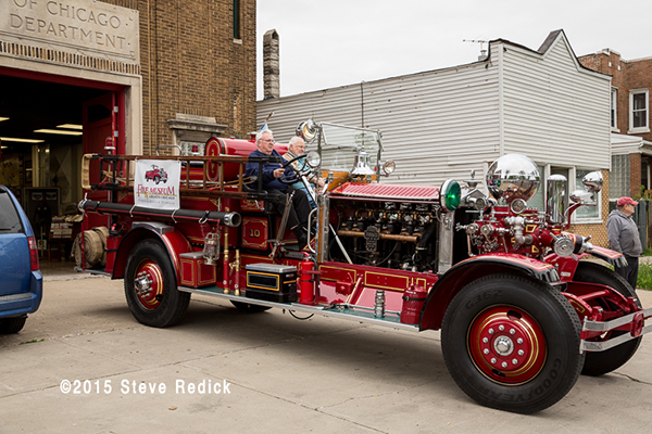 Chicago FD Engine 10 1926 Ahrens Fox fire engine.