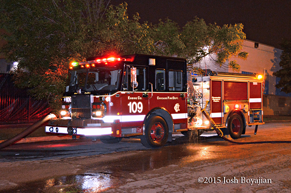 Chicago FD Engine 109 at a fire scene