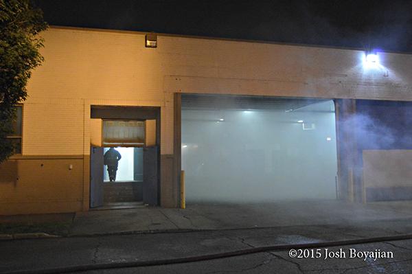 smoke in large garage