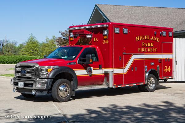 Highland Park FD Ambulance 34 Horton Type I ambulance