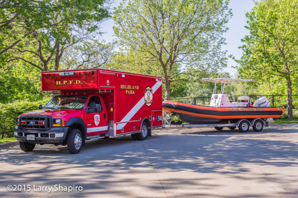 fire department dive rescue unit and boat