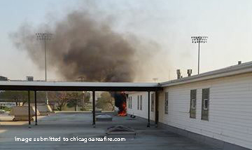 Fire at the Hawthorne Race Course in Stickney, IL 5/7/15.