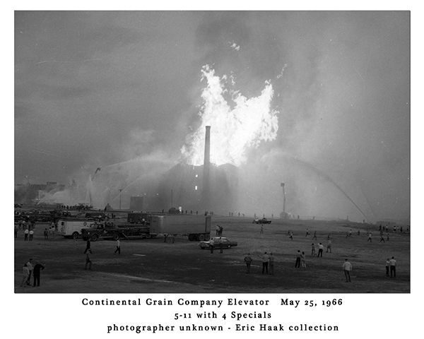 Continental Grain Company Elevator fire in Chicago 5/25/66