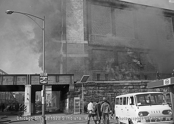 historic fire scene in Chicago
