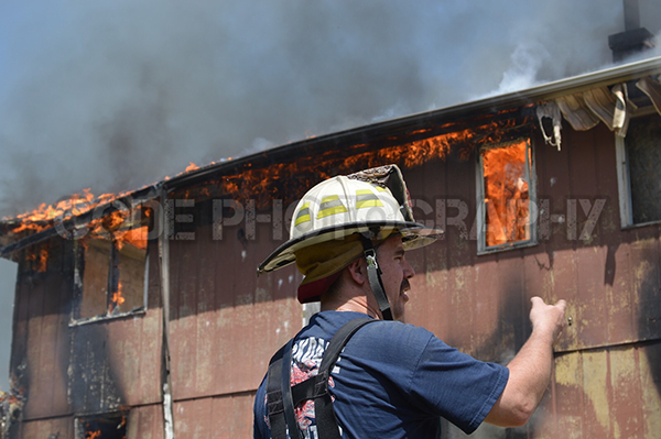 live-fire training for firemen