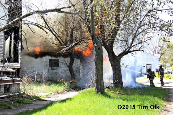 garage on fire