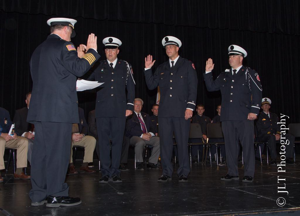 fire department lieutenants being sworn in
