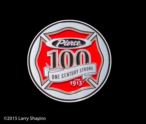 Pierce 100th anniversary plaque