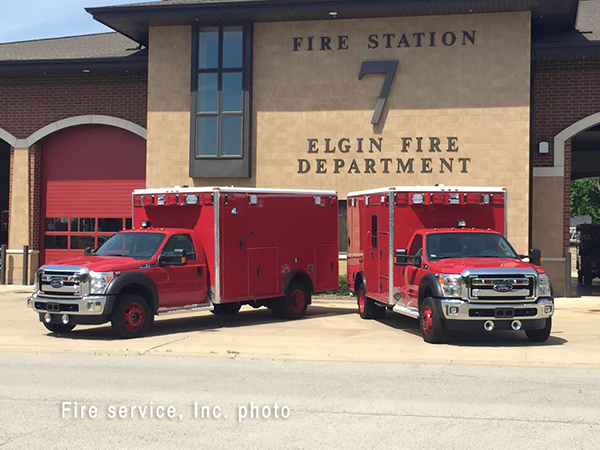 new ambulances for the Elgin Fire Department