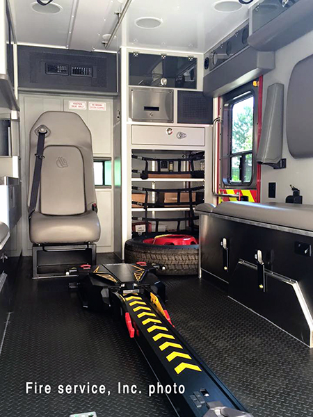 interior of a new ambulance