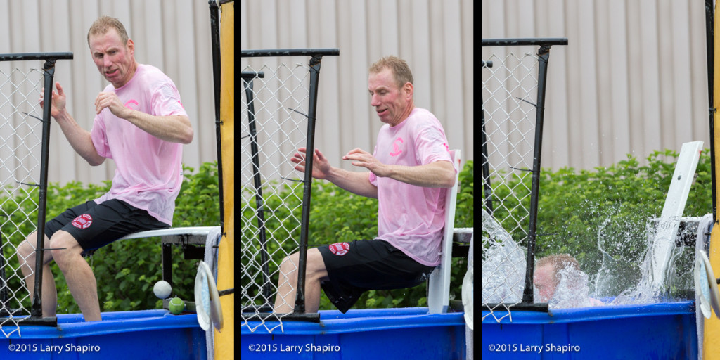 fire chief in dunk tank