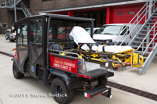Chicago FD medical cart ATV