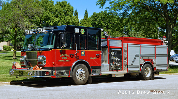 Spartan Darley fire engine