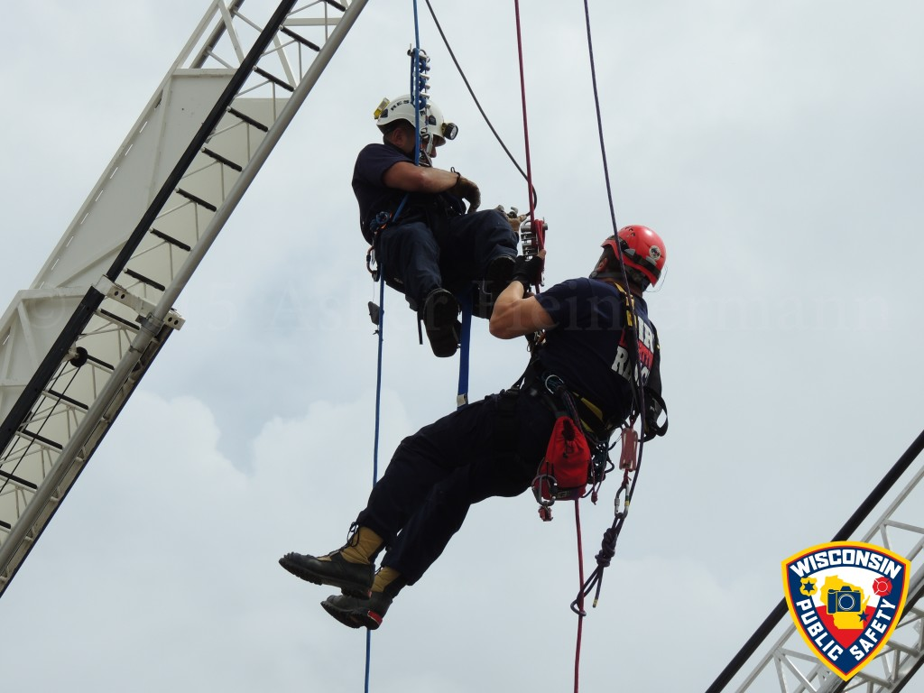 high angle rescue team demonstration