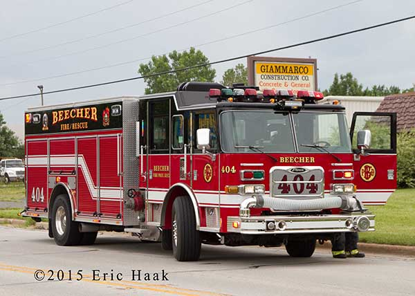 Pierce fire engine from Beecher FD