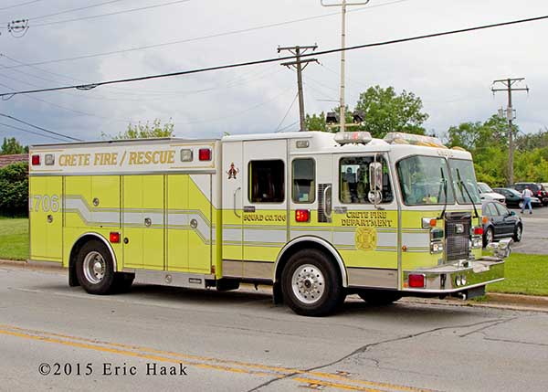 lime green fire engine