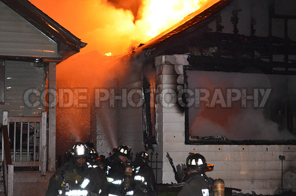 Chicago bungalow gutted by fire at night