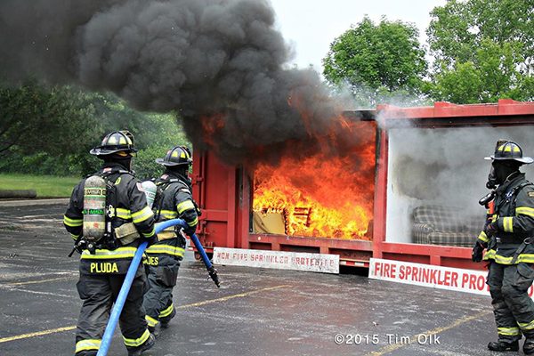 live-fire demonstration for the public
