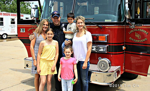 fireman with his family
