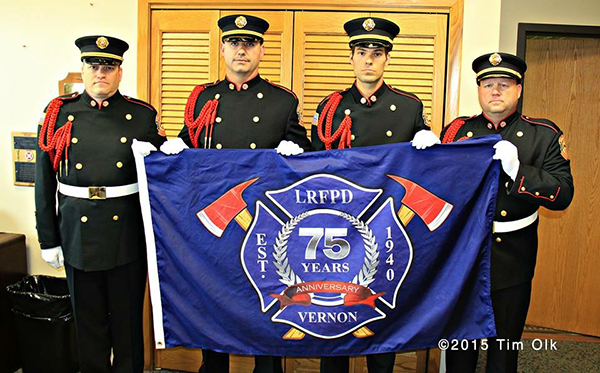 fire department anniversary flag