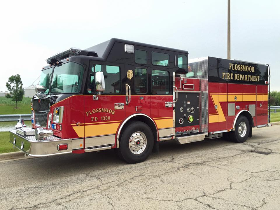new Smeal fire engine for the Flossmoor Fire Department