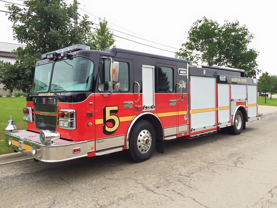 new fire engine for the Morton Grove Fire Department