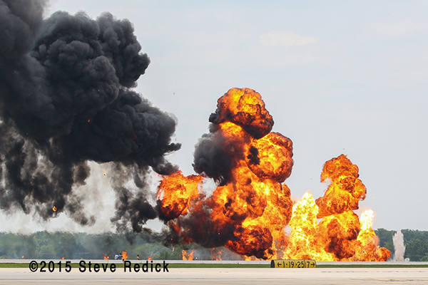 pyrotechnics at Rockford Air Show