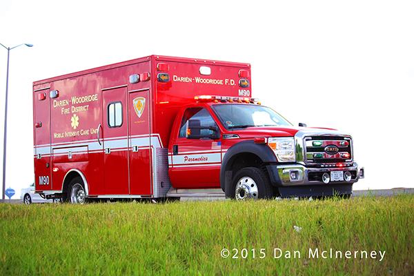 Darien-Woodridge FPD ambulance