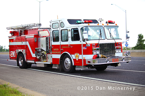 Darien-Woodridge FPD fire engine