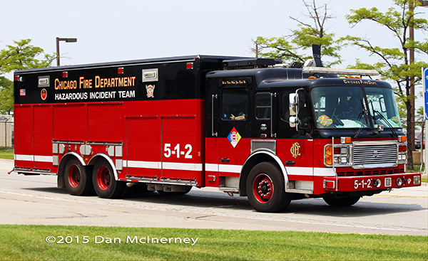 Chicago FD Hazardous Incident Team Unit 5-1-2