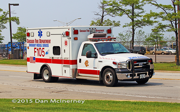 Chicago FD Special Events Ambulance 105