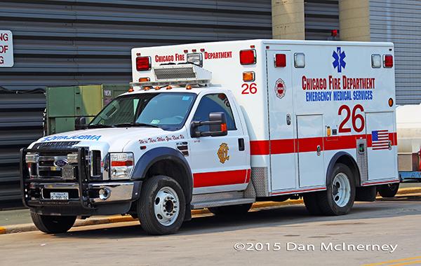 Chicago FD Ambulance 26 at O'Hare Airport