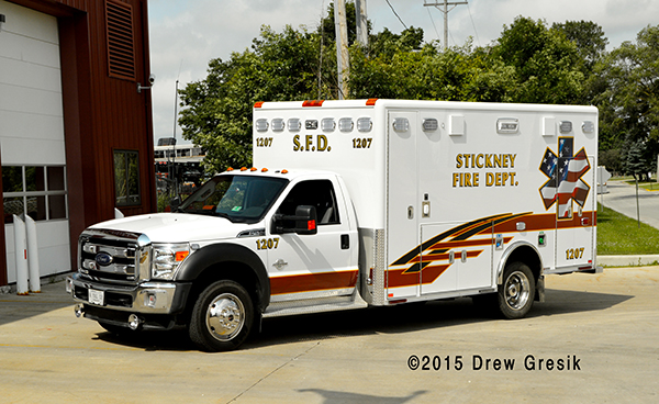 Stickney FD ambulance