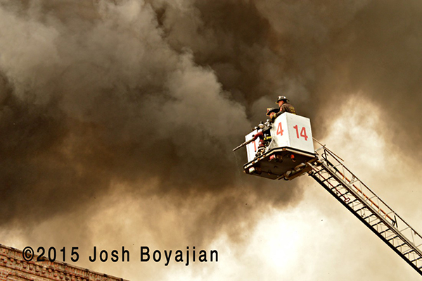 2-11 alarm fire scene in Chicago