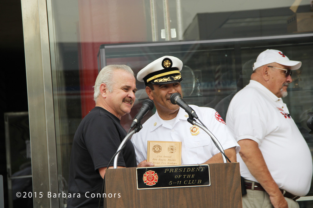 award recipient at the Chicago Fire Academy
