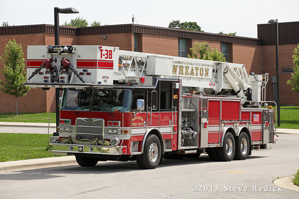 Wheaton Fire Department tower ladder