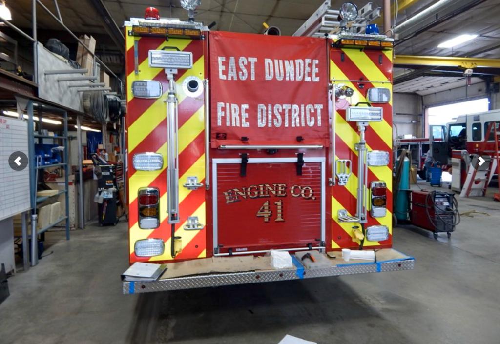 new fire truck being built