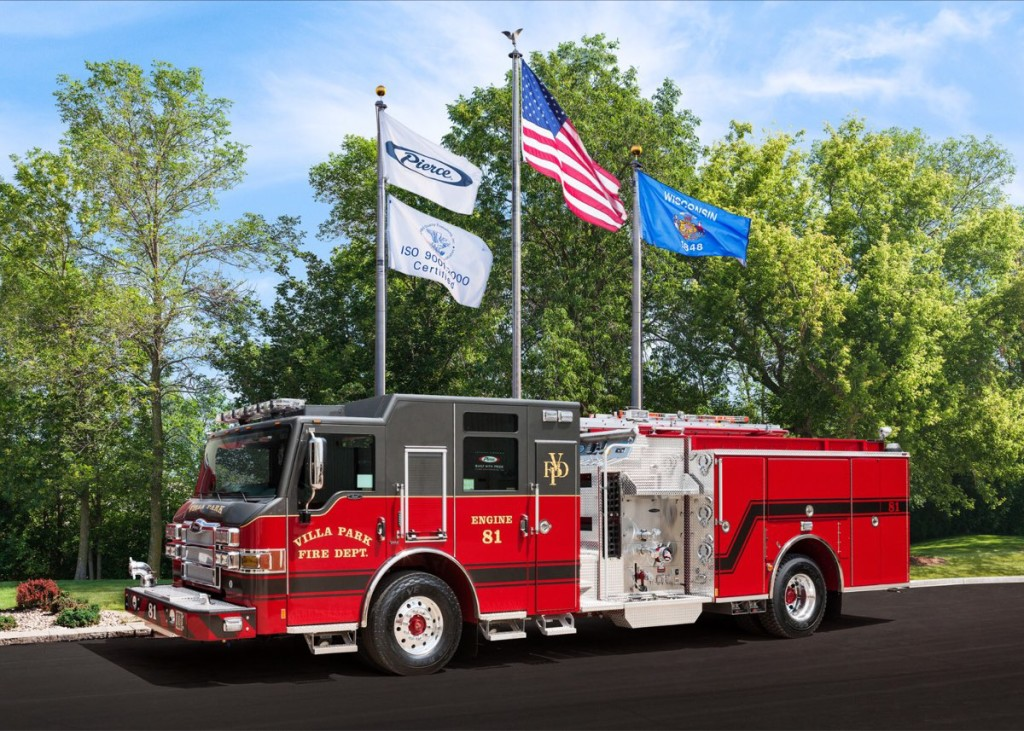 new fire engine for the Villa Park Fire Department