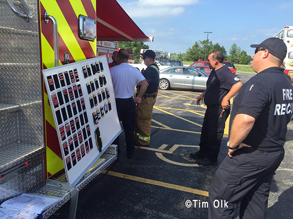 fire department accountability board at incident