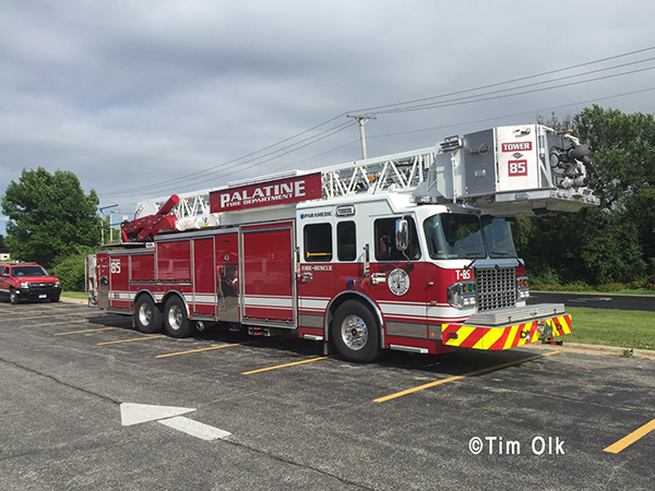 Palatine Fire Department fire truck