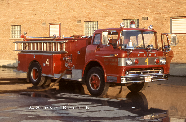 Cicero Fire Department at the Hawthorne Race Track grandstand fire of 1978