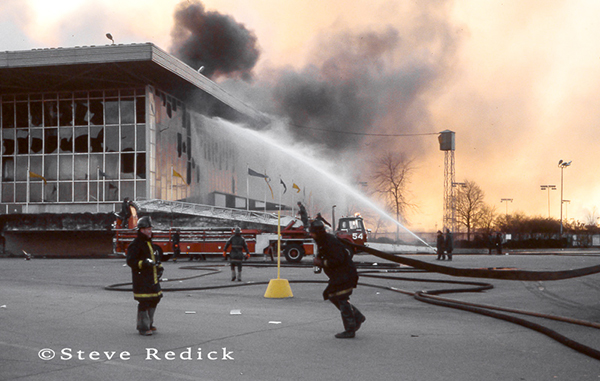 Chicago Fire Department at the Hawthorne Race Track grandstand fire of 1978